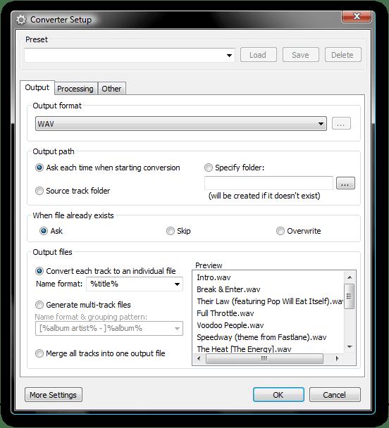 converter setup - البرنامج الرائع للتحكم الكامل بالصوت foobar2000 1.3.4 Final