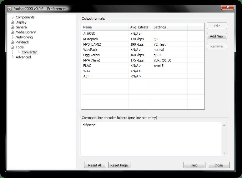 preferences converter - البرنامج الرائع للتحكم الكامل بالصوت foobar2000 1.3.4 Final