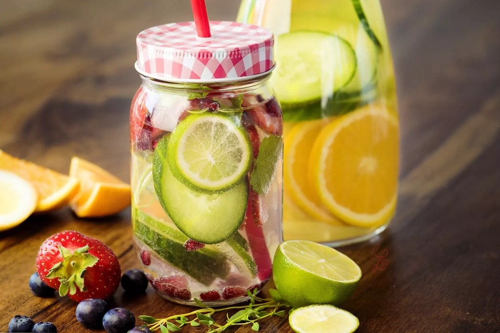 "In summer, I like to pimp my water with fruits and herbs – a food trend called ""infused water"""