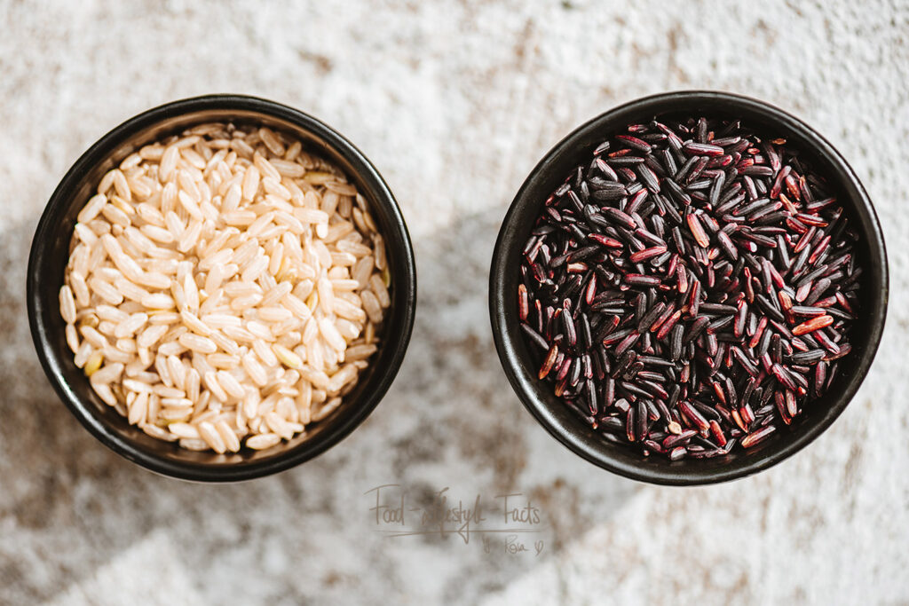 White or black rice – which is healthier?