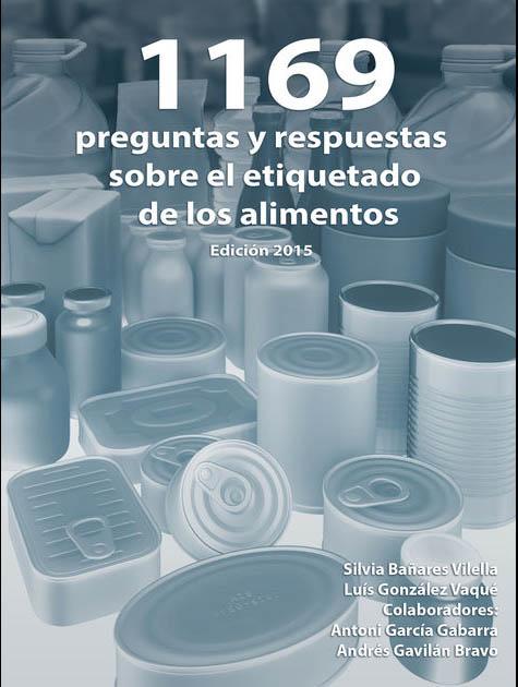 Portada del libro de Silvia Bañares: 1169 preguntas y respuestas sobre el etiquetado de alimentos