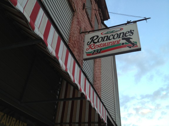 Sign out front of Roncone's