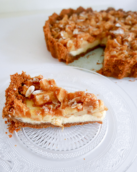 Appel- kaneel cheesecake | Foodaholic.nl