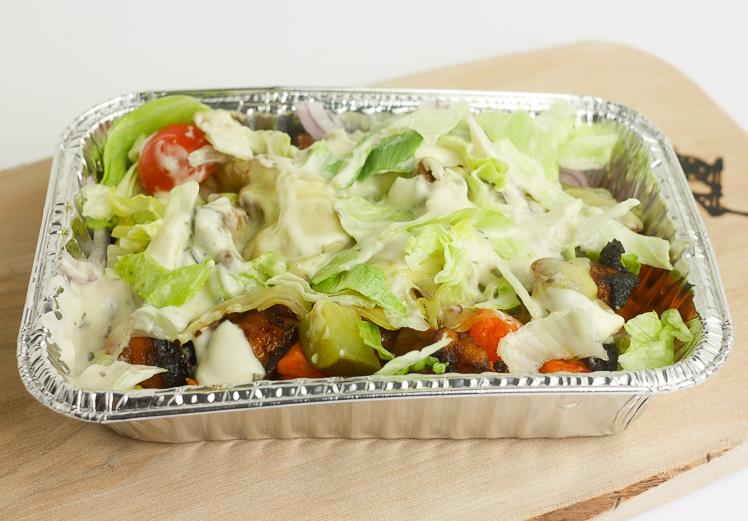 Gezondere kapsalon met zoete aardappel en kip | Foodaholic.nl