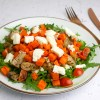 Salade met zoete aardappel, kip en feta | Foodaholic.nl
