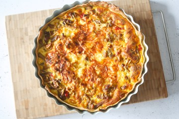 Quiche met shoarma | Foodaholic.nl