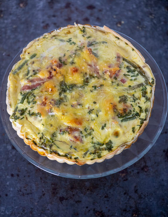 Quiche met haricot verts en spek | Foodaholic.nl