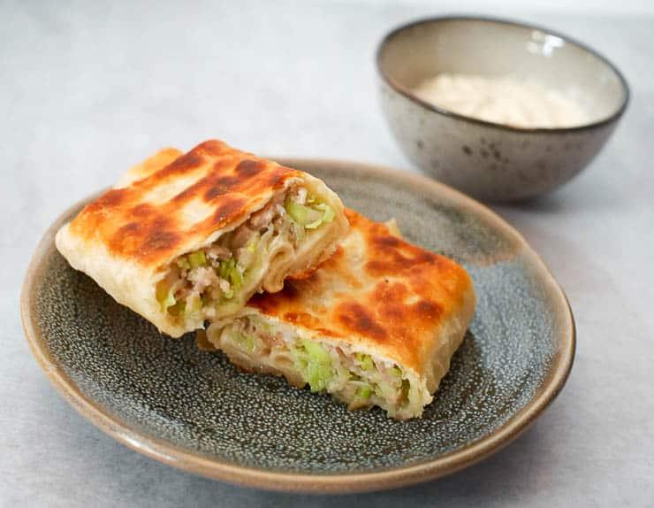 Martabak met kip en garnalen | Foodaholic.nl