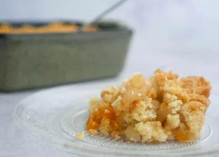 Appelcrumble met mandarijn | Foodaholic.nl