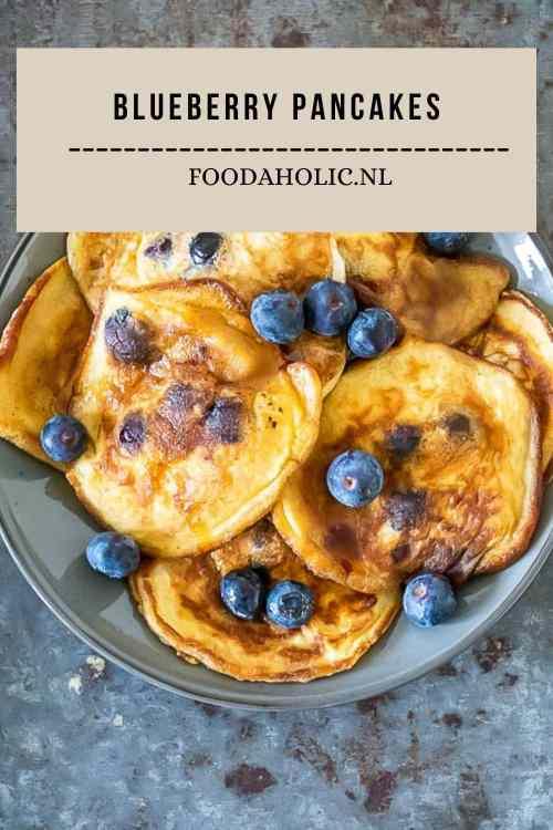 Blueberry pancakes - Pinterest   Foodaholic.nl
