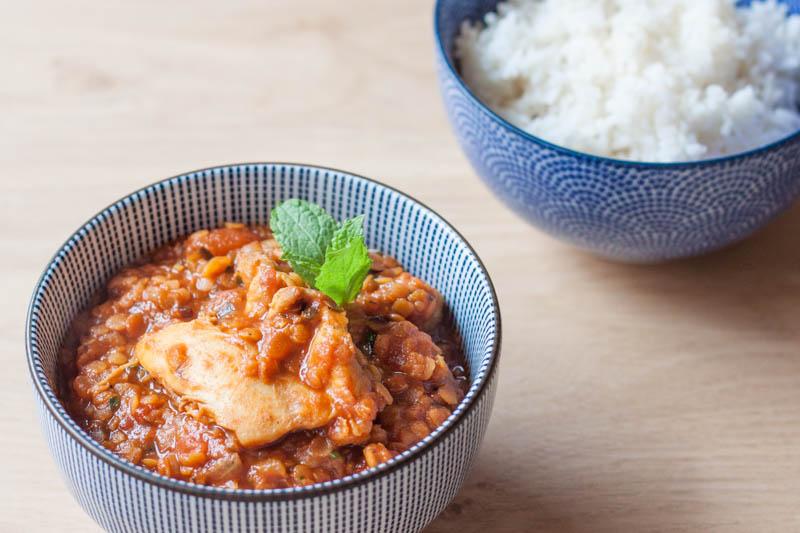 Rode Linzen Kip Curry