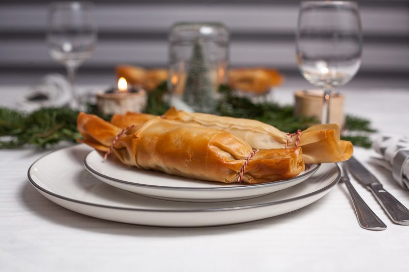 Vegetarische Christmas crackers van filodeeg