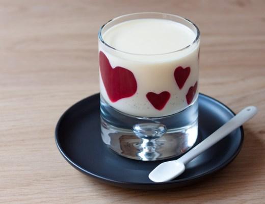 Valentijns panna cotta