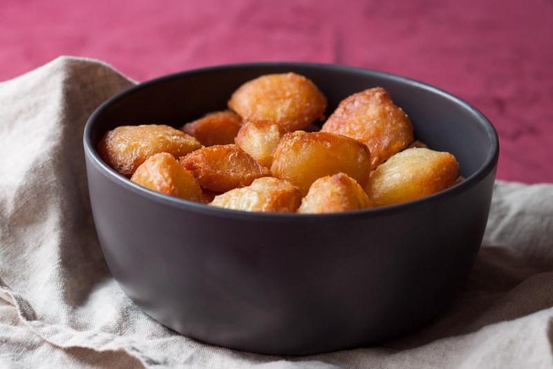 In ganzenvet gebakken aardappels-1