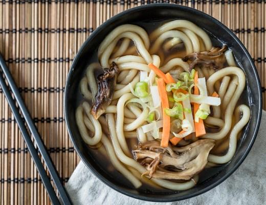Noodles met maitake