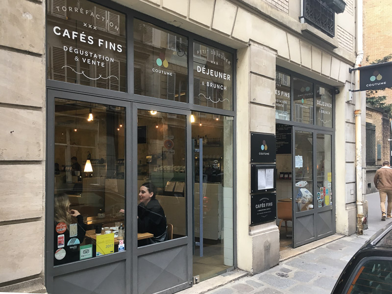 Goede koffie in Parijs - Coutume