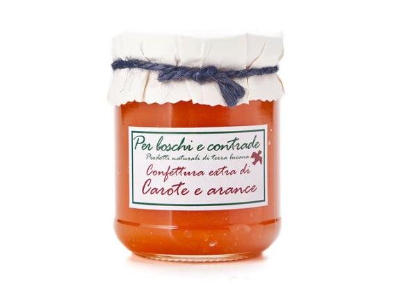 confettura extra di carote e arance marmellata di carote e arance boschi e contrade confettura italiana marmellata italiana basilicata lucania