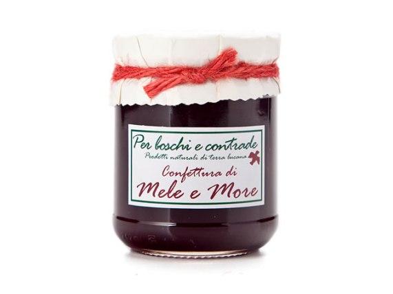 confettura extra di mele e more marmellata di mele e more boschi e contrade confettura italiana marmellata italiana basilicata lucania