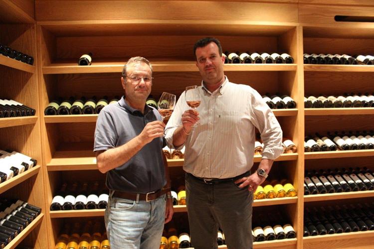 Da sinistra, Andrea Vantini, direttore tecnico, e Franco Cristoforetti, presidente del Consorzio Tutela vino Bardolino
