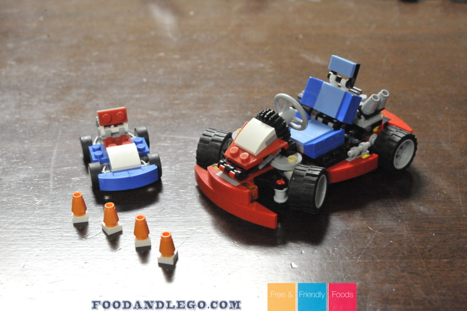LEGO Reviews 31027   31030 Blue Racer   Red Go Kart Free and Friendly Foods LEGO Review Blue Racer and Red Go Kart