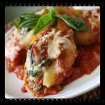 Stuffed Shells with Shrimp in Spaghetti Sauce