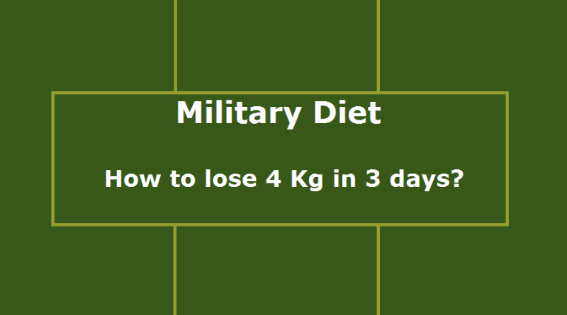 how to military diet