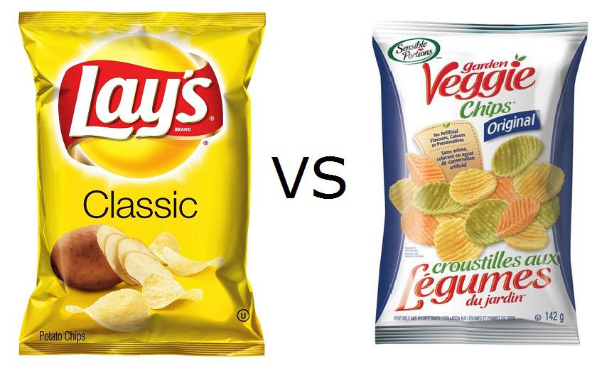 Veggie Chips Vs Potato Chips