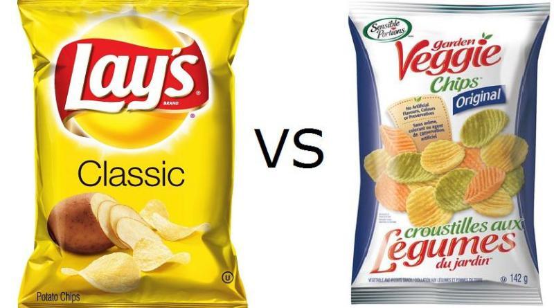 veggie chips vs potato chips