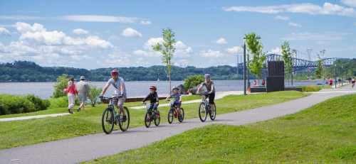 Biking along the suburbs