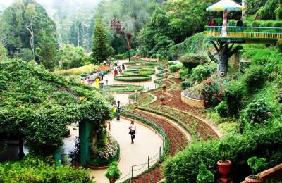 Hill stations in the Nilgiris-Ooty, Kodaikanal, Munnar