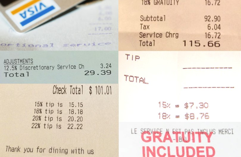 Tipping, Gratuity and Discretionary Service Charge