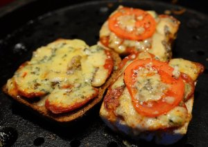 Chorizo and Stilton French breads