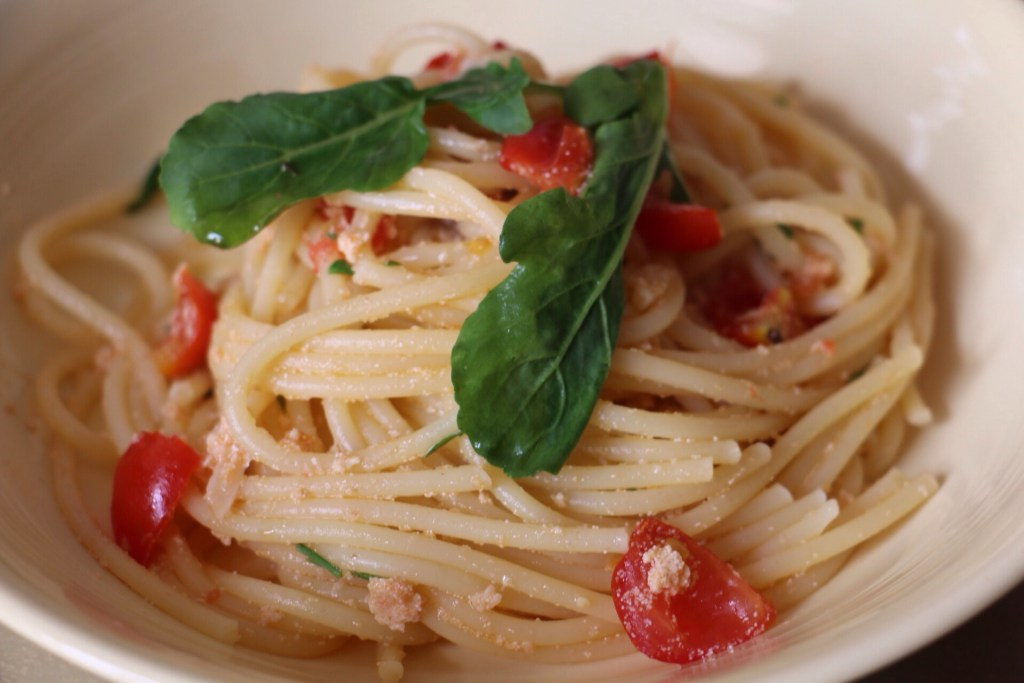 Recipe: Spaghetti with fresh bottarga (fish roe)