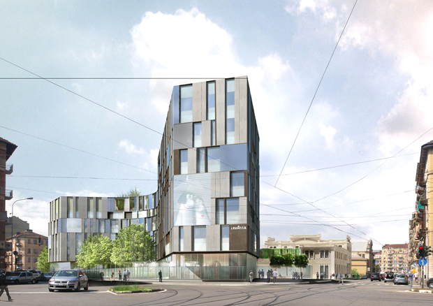 Artistic impression of the new Lavazza headquarters