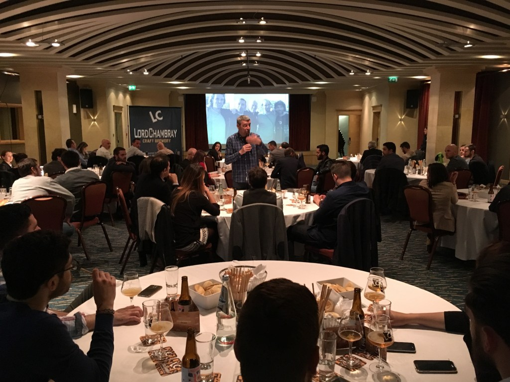 First craft beer masterclass organised in Malta by Lord Chambray