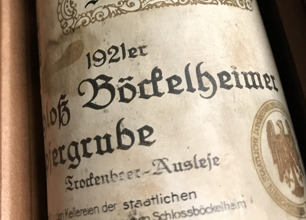 Going, going, gone: 15,000 euros for a bottle of Riesling