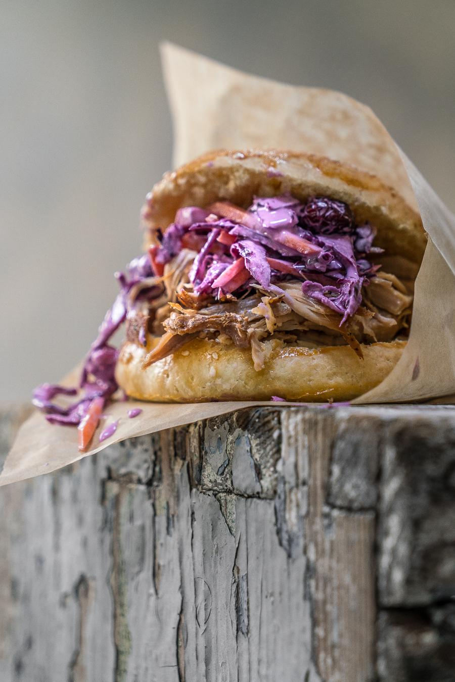 Pulled Pork Burger with Coleslaw