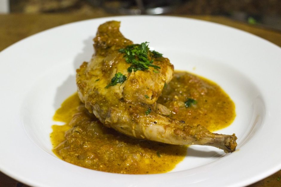 Romesco rabbit