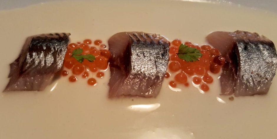 Smoked sardines & ajoblanco Suculent