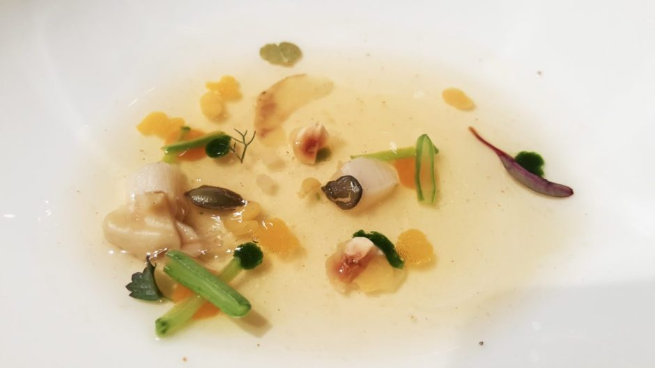 Pumpkin consommé El Celler de Can Roca