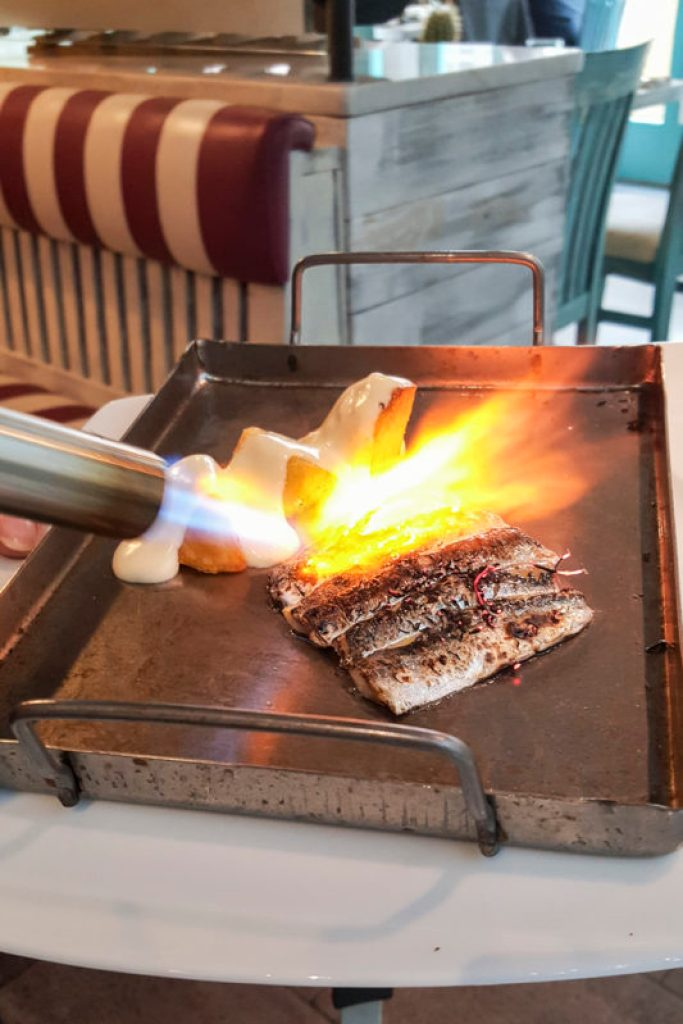 Parillada de sardinas en directo, El Nou Ramonet