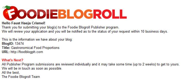 Foodieroll Blogroll