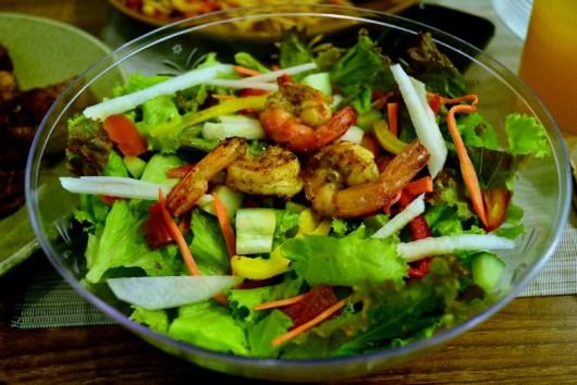 Shrimp in Se-Soy Salad