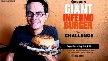 Gino's Giant Inferno Burger Challenge