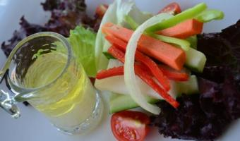 Garden Salad with Coconut Vinegar Dressing