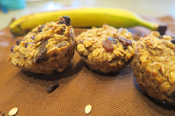 Banana Raisin Oatmeal Cups