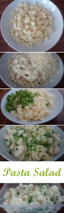 Pasta Salad Recipe Conchigliette Cheese Green Pepper