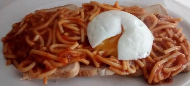 Spaghetti Bolognese Toast Poached Egg