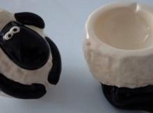 Novelty Shaun Sheep Egg Cup Salt Novelty Puckator