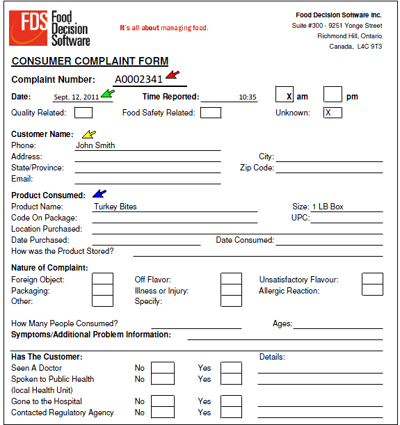 customer complaints form template free pictures form template – Customer Complaints Form Template